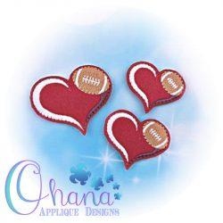 Love Football Feltie Embroidery