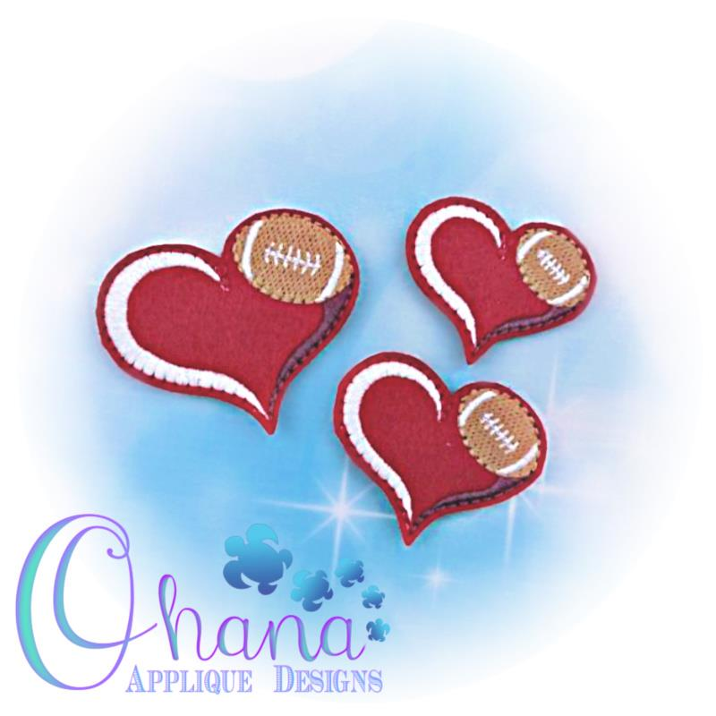 Love Football Feltie Embroidery
