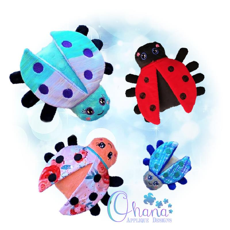 Ladybug Stuffie Embroidery Design