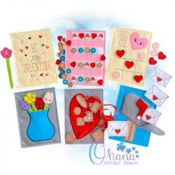 Valentine Quiet Book Embroidery