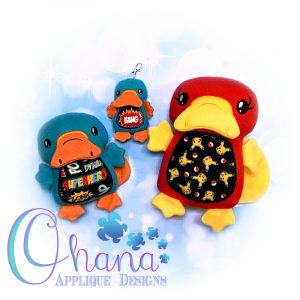 Platypus Stuffie Embroidery Design
