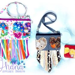Triple Love Zipper Bag