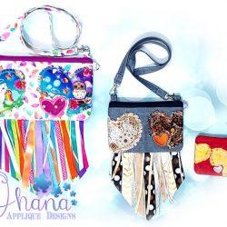 Triple Love Zipper Bag