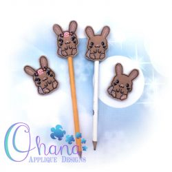Floral Sally Bunny Pencil Topper