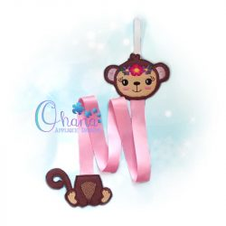 Floral Monkey Bow Holder