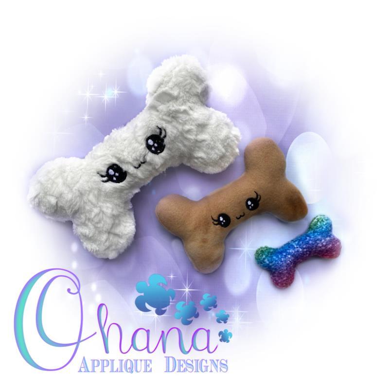 Kawaii Dog Bone Stuffie