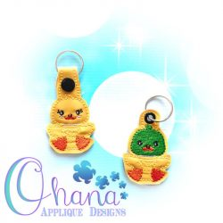 Sitting Duck Key Chain Embroidery