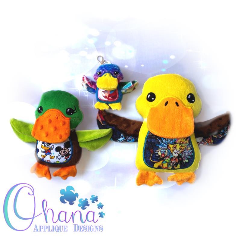 Duck Stuffie Embroidery Design