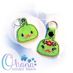 Floral Duck Key Chain Embroidery
