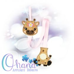 Floral Giraffe Bow Holder
