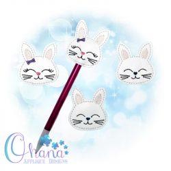 Bow Bunny Pencil Topper