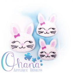 Bow Bunny Feltie Embroidery