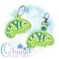 Chameleon Key Chain Embroidery