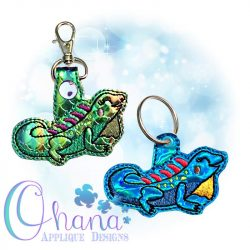 Iguana Key Chain Embroidery