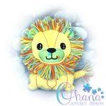 Lion Stuffie Embroidery Design