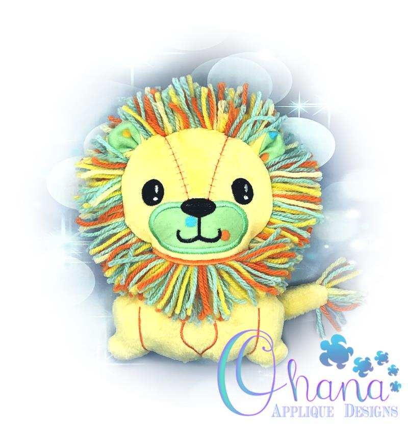 Lion Stuffie Embroidery Design