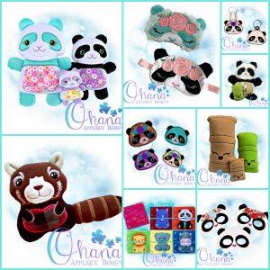 Panda Bundle Embroidery Design