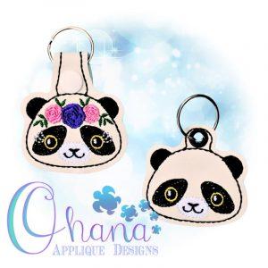 Floral Panda Key Chain