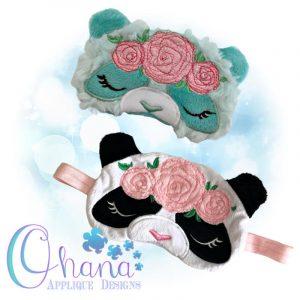 Floral Panda Sleep Mask