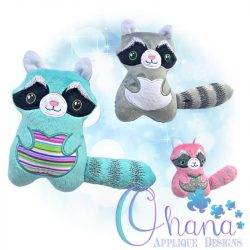 Raccoon Stuffie Embroidery Design