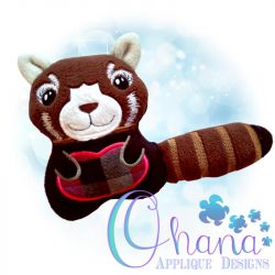 Red Panda Stuffie Embroidery
