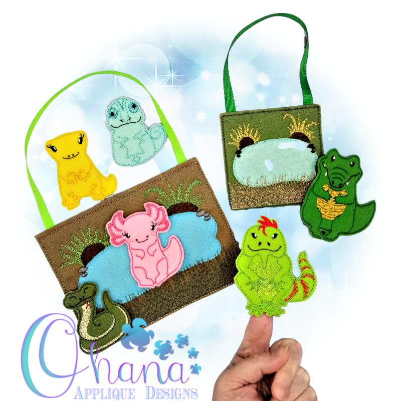 Reptile and Amphibians Finger Puppets