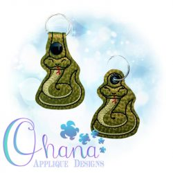 Snake Key Chain Embroidery