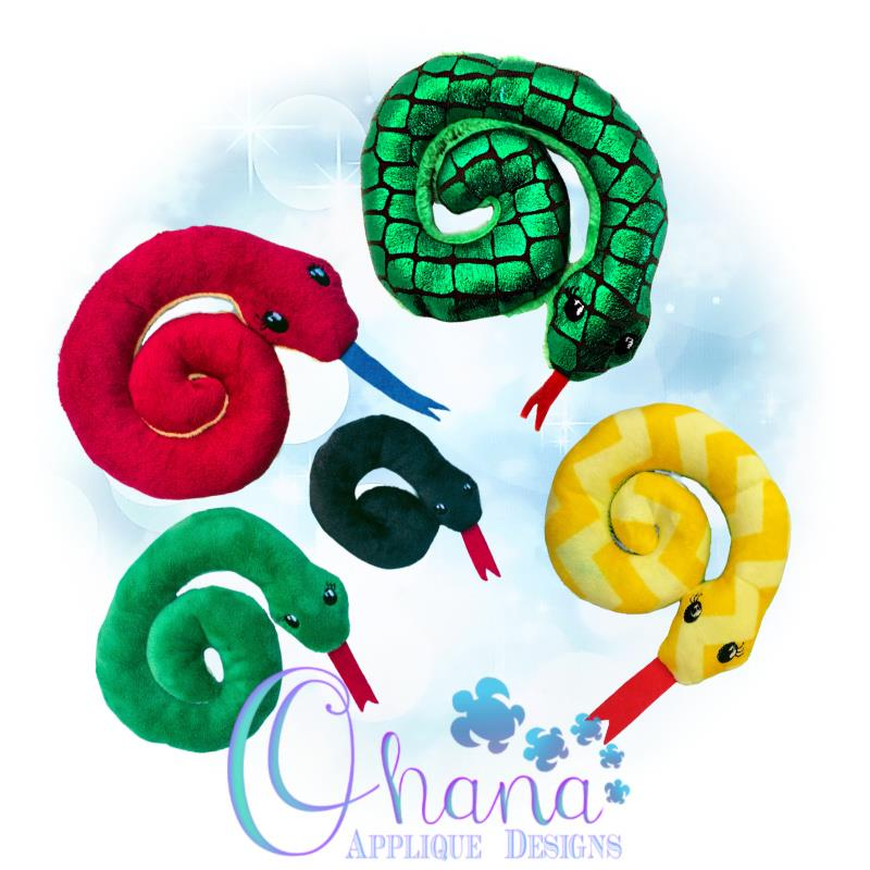 Snake Stuffie Embroidery Design