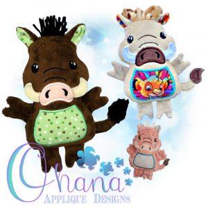 Warthog Stuffie Embroidery Design