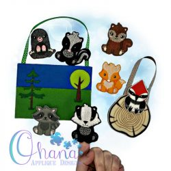 Woodland Finger Puppets Embroidery