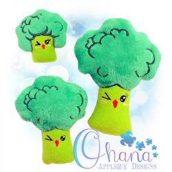 Kawaii Broccoli Stuffie Embroidery