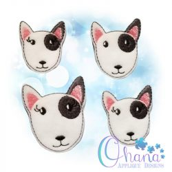 Bull Terrier Feltie Embroidery