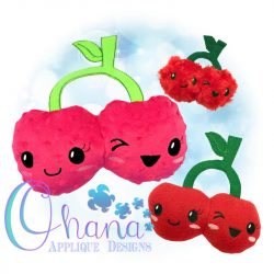 Kawaii Cherries Stuffie Embroidery