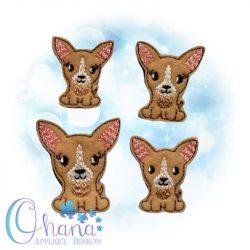 Chihuahua Feltie Embroidery Design