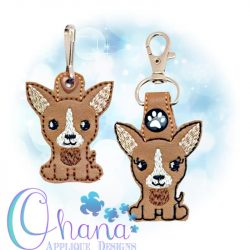 Chihuahua Key Chain Embroidery