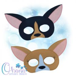 Chihuahua Pretend Mask Embroidery