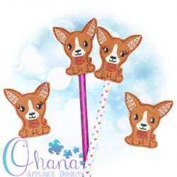 Chihuahua Pencil Topper Embroidery