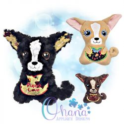 Chihuahua Stuffie Embroidery Design