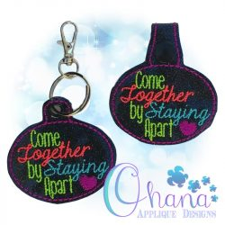 Come Together Key Chain Embroidery