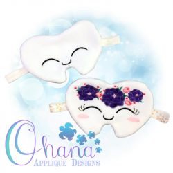 Floral Tooth Sleep Mask