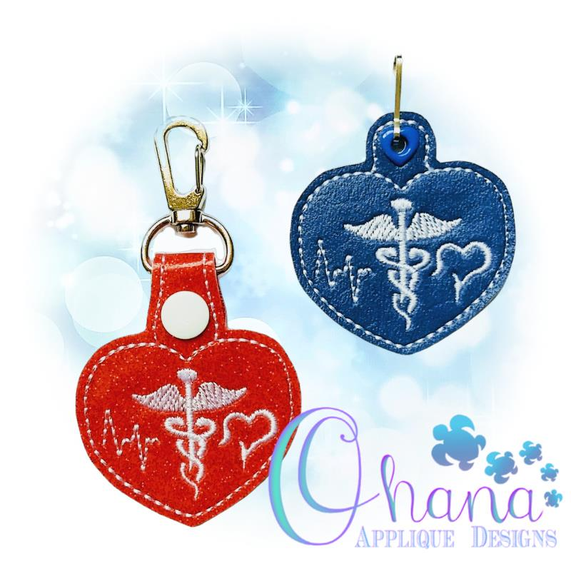 Love Medical Key Chain