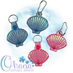 Shell Key Chain Embroidery