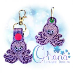 Octopus Key Chain Embroidery