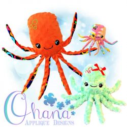 Olly Octopus Stuffie Embroidery