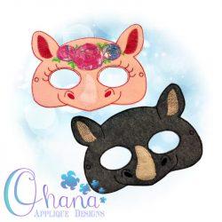 Floral Rhino Pretend Mask