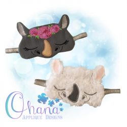 Floral Rhino Sleep Mask