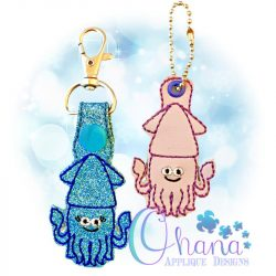 Squid Key Chain Embroidery
