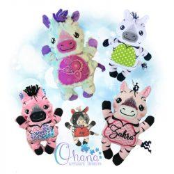 Ziggy Zebra Stuffie Embroidery
