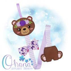 Floral Bear Bow Holder