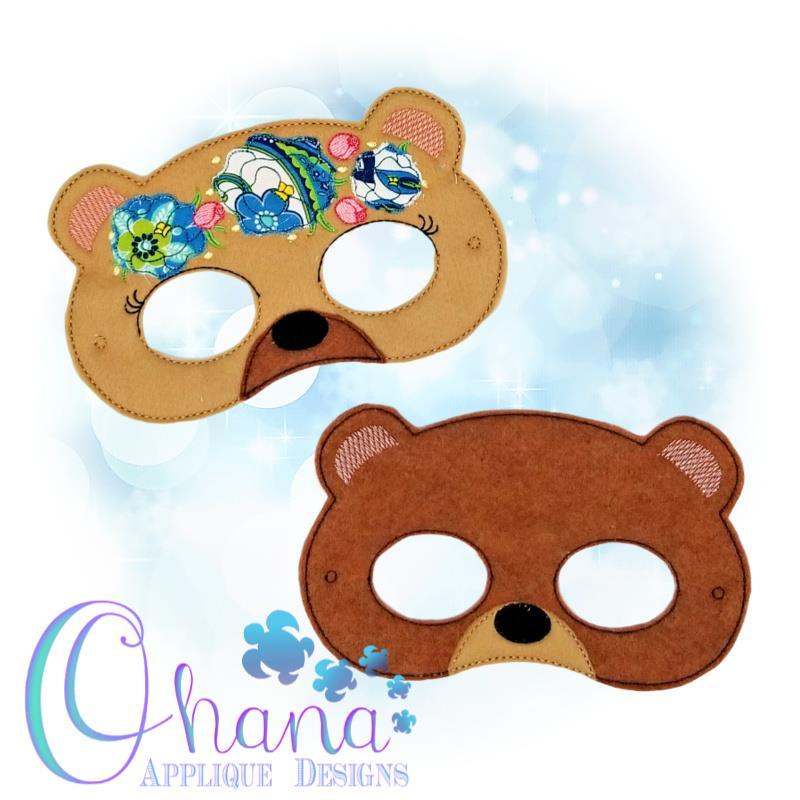 Floral Bear Pretend Mask